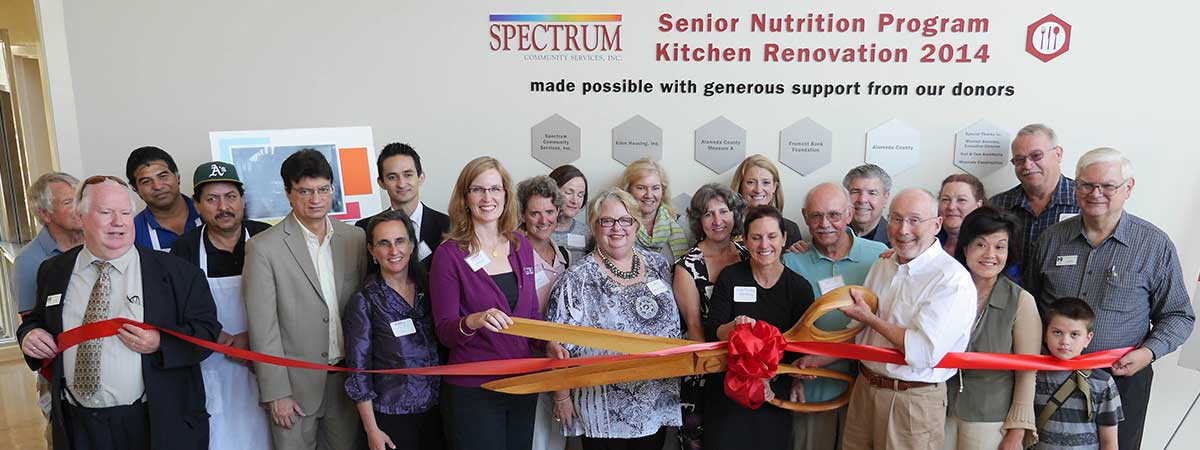 Ribbon Cutting for the new Spectrum kitchen at Josephine Lum Lodge